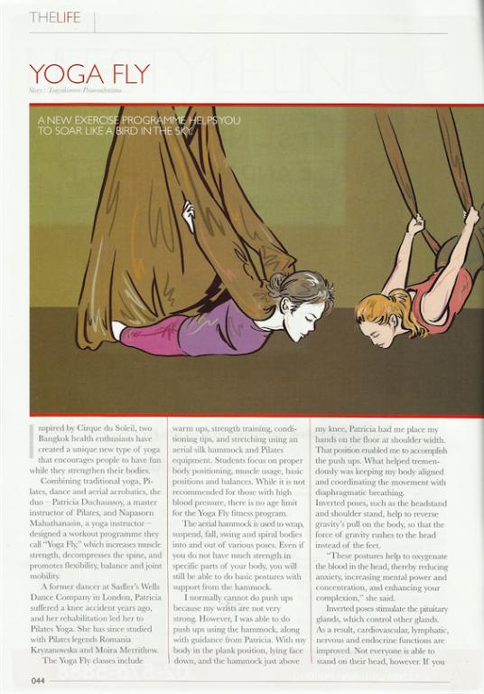 Yoga Fly in Bangkok Post